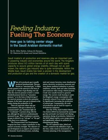Feeding Industry, Fueling the Economy - Saudi Aramco