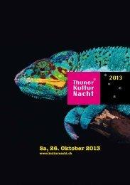Programm 2013 - Thuner Kulturnacht