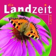 Die Landzeit 01-2013. - Kirche und Ländlicher Raum
