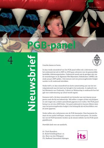 Nieuwsbrief 4 - PGB -panel