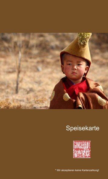 Speisekarte zum Download (PDF) - Gingerboy