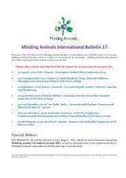 Minding Animals International Bulletin 17 - WordPress.com