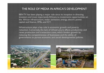 BEN TV Africa infra.pptx - Corporate Africa