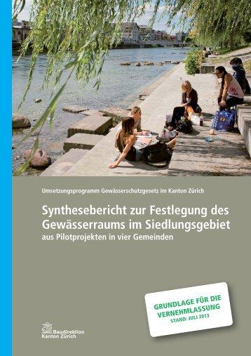 Synthesebericht zur Festlegung des Gewässerraums im ...
