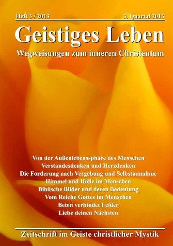 GL 3/2013 - der Lorber-Gesellschaft eV