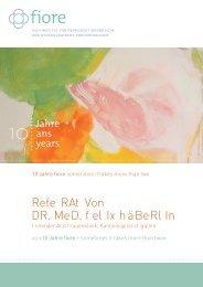 Rede Dr. med. Felix Häberlin an der Jubiläumsfeier vom 7 ... - fiore