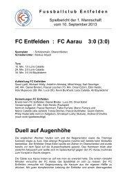 Meisterschaftsspiel / 3. Liga / FC Entfelden : FC Aarau