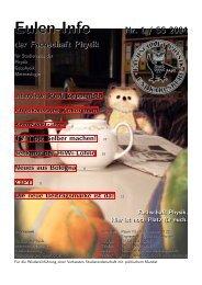 Eulen-Info Nr. 1 / SS 2004 - Fachschaft Physik