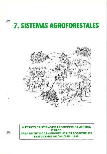 Los sistemas agroforestales - Agronet