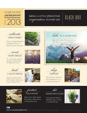 Download Spring Guide PDF - Black Box Wines