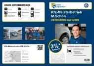 Prospektes - Kfz Meisterbetrieb M. Schön