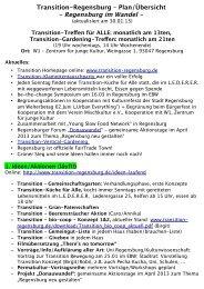 Transition-Regensburg – Plan/Übersicht - Regensburg im Wandel -