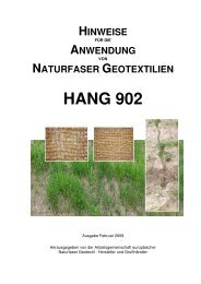User information for geotextile (German) - Roess Nature Group