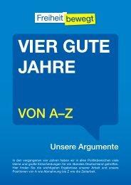 Vier gute Jahre - unsere Argumente von A-Z als PDF - FDP ...