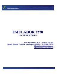O que é o serviço de Emulação 3270 via Web browser
