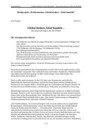 Global denken, lokal handeln – - Global Marshall Plan