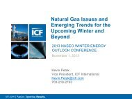 Natural Gas Issues and Emerging Trends for the Winter Season