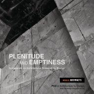 PLENITUDE EMPTINESS - Edinburgh Research Explorer