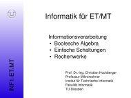 Folien des 3. Kapitels (Informationsverarbeitung). - Professur für ...