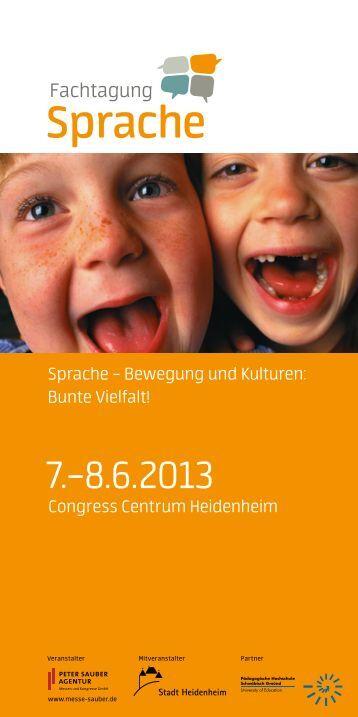Programmheft 2013 - Fachtagung Sprache