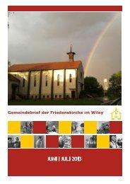 JUNI | JULI 2013 - Friedenskirche Neu-Ulm
