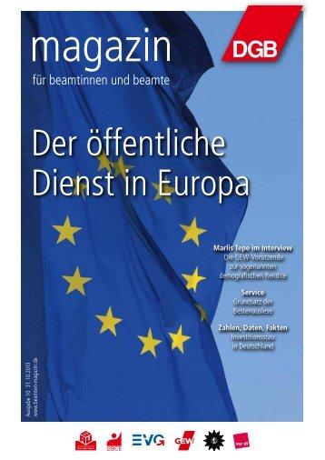Ausgabe 10/2013 - Magazin für Beamtinnen und Beamte
