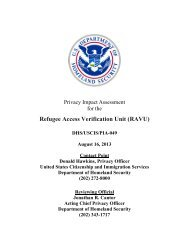 RAVU - Homeland Security