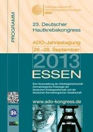 Hauptprogramm - ADO 2014