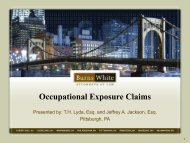 Occupational Exposures for Diacetyl and Diesel Exhaust - NACD