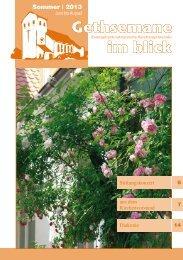 Gethsemane im Blick Sommer 2013 - luth. Kirchengemeinde ...