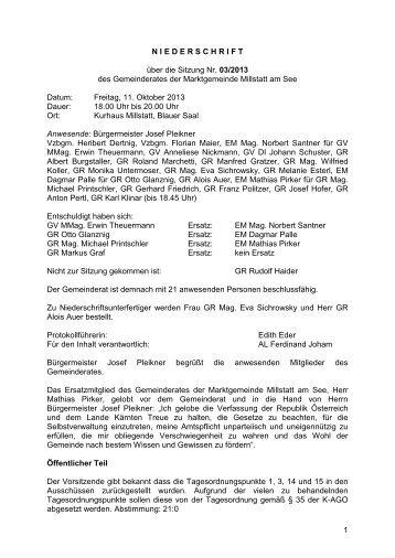131011_3.Gemeinderat_2013.pdf - johannschuster.at