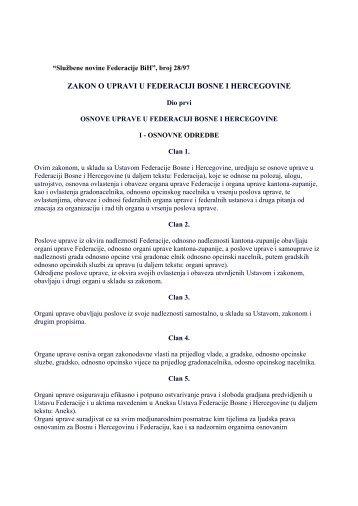 Zakon o upravi FBiH
