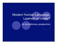 Modern Human Language: Learned or innate? - WordPress – www ...