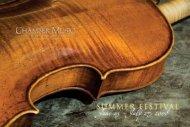 June 23 - July 27, 2008 - Chamber Music Northwest