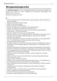 Bergmannssprache - WAAG
