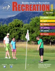 Boulder Parks & Recreation Guide fall 2013 - City of Boulder