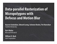 Data-parallel Rasterization of Micropolygons with Defocus and ...
