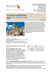 La Russie transsibérienne - Arts et Vie