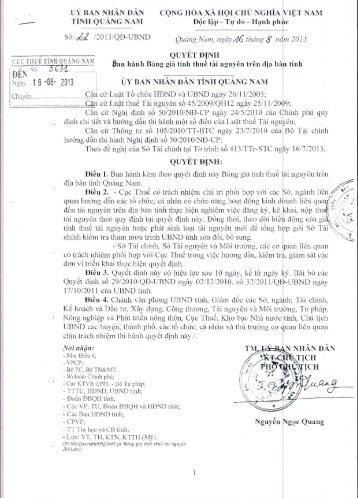 5631-22-2013-QD-UBND Ban hanh Bang gia tinh thue tai nguyen ...