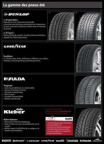 La gamme des pneus été - Pneu Vanhamme