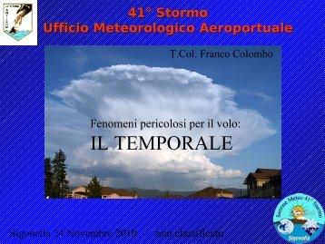 I temporali: un pericolo per la navigazione aerea - Meteorologia