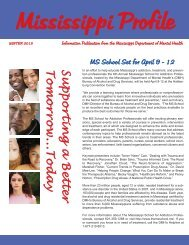 Profile Winter 2013 - Mississippi Department of Mental Health