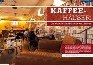 Die Kultur des Kaffees und der Lektüre - kaffeehaus