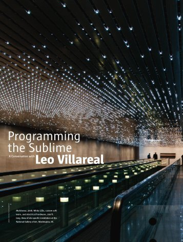 Leo Villareal Programming the Sublime - jancastro