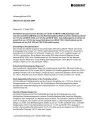 Geberit mit starkem 2004 (111,91 kB) - Geberit International AG