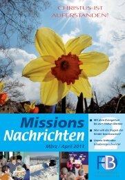 Nachrichten 2013-2 - Missionswerk FriedensBote