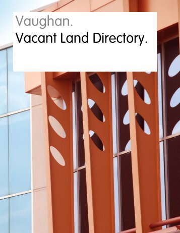 Vacant Land Directory - City of Vaughan