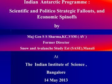 to view the presentation document. - Indian Institute of Science