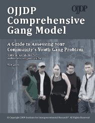 A Guide to Assessing Your Community's Youth Gang Problem