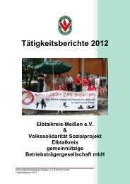 Tätigkeitsberichte 2012 - Volkssolidarität Bundesverband e.V.